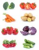 Potat della verdura del peperone dolce del cetriolo dei pomodori delle carote delle verdure Fotografia Stock Libera da Diritti