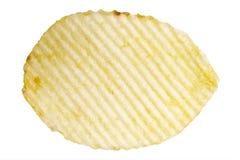 Potatis Chip Macro Arkivfoton