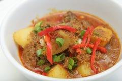 potatis för asia currymat royaltyfri foto