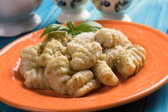 potatis för di gnocchi italiensk nudelpatata royaltyfri bild