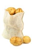 Potatis i en påse fotografering för bildbyråer