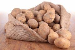 Potatis i påse royaltyfria foton