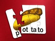 Potatis i pussel arkivfoton