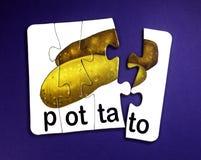 Potatis i pussel arkivfoto
