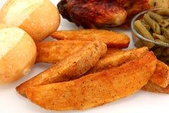 potatis kryddade wedges arkivbilder