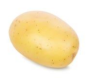 Potatis på vit arkivbild