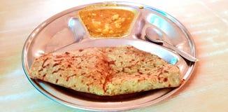 Potatis Paratha royaltyfri foto