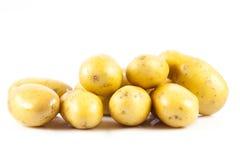 Potatis som isoleras på vit bakgrundsmat Arkivfoton