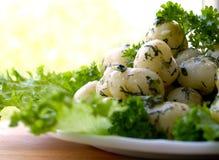 Potatisar med örtar Royaltyfria Foton