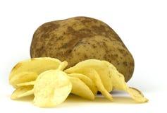 Potatischiper royaltyfri foto