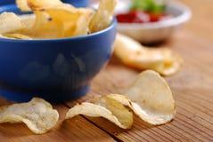 Potatischiper Fotografering för Bildbyråer