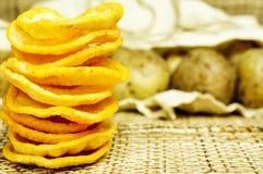 Potatischiper royaltyfri fotografi