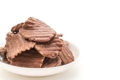 potatischiper med choklad Royaltyfri Bild