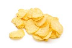 Potatisen gå i flisor royaltyfria bilder