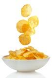 Potatisen gå i flisor Royaltyfri Foto