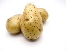 Potatishög på vit blackground Royaltyfria Bilder