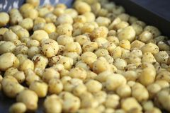 Potatismagasin royaltyfria foton