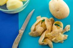 Potatispeels fotografering för bildbyråer