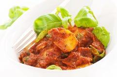 Potatispizzaiola Fotografering för Bildbyråer