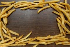 Potatissmåfisk på trä Royaltyfria Bilder