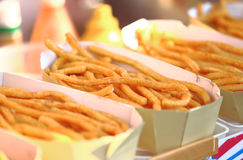 Potato Chips. Closeup of fried French Fries Stock Photography