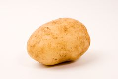 Potato. On the white background Stock Images