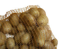 Potato. Solanum tuberosum, earth apple,net,bag royalty free stock photos