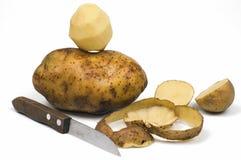 Potato. Peel potato isolated on white stock photo