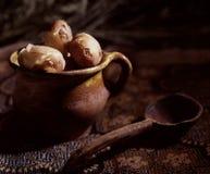 Potato. In a pot Royalty Free Stock Photo