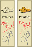 Potato. Two Price Tags with Vintage Effect Stock Images