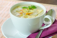 Potato and apple soup Royalty Free Stock Photography