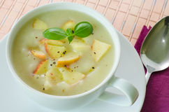 Potato and apple soup Stock Image