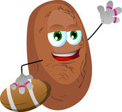 Potato as American football player Royalty Free Stock Photography