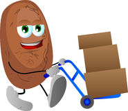 Potato as delivery man Stock Photo