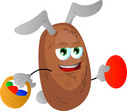 Potato as Easter bunny Royalty Free Stock Image