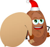 Potato as Santa Claus with a big sack Royalty Free Stock Image