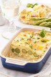 Potato asparagus gratin Royalty Free Stock Images