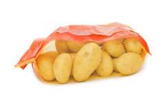 Potato in a bag Stock Photos