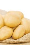 Potato on a bag Royalty Free Stock Photography
