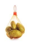 Potato in a bag Stock Photo