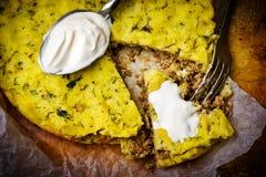 Potato baked pudding. Stock Images
