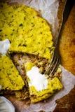 Potato baked pudding. Stock Image