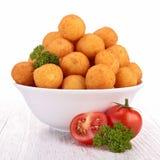 Potato ball. Bowl of cooked potato ball royalty free stock photography
