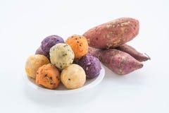 Potato balls snack. Healthy food Stock Photos