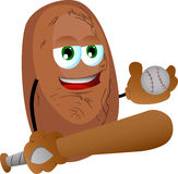Potato Baseball player Royalty Free Stock Photos