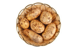 Potato in basket Royalty Free Stock Photography