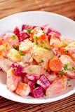 Potato and beet salad Stock Photography