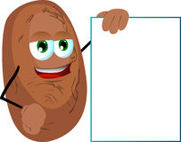 Potato with blank board Stock Image