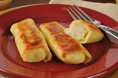 Potato blintzes Stock Photo