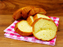 Potato bread. Freshly baked loaf of yellow potato bread Royalty Free Stock Image